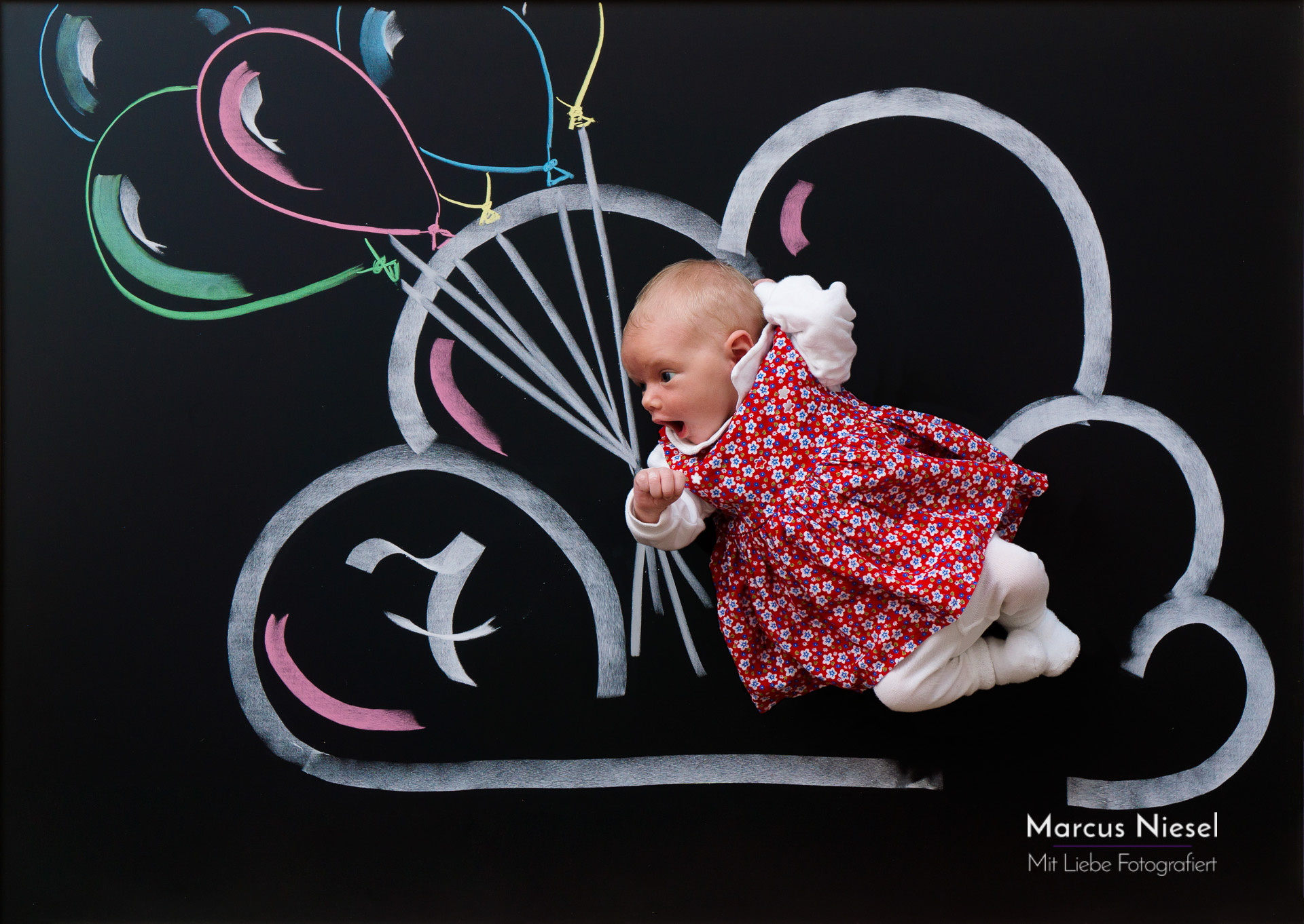 Baby auf Wolke 7